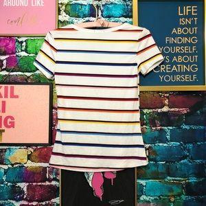 Rue21 Tops - 🍋Rainbow striped shirt